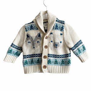 "Gap Chunky Knit ""Chill"" Woodlands Cardigan"